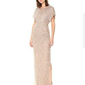 ADRIANNA PAPELL| Sequins Embellished dress